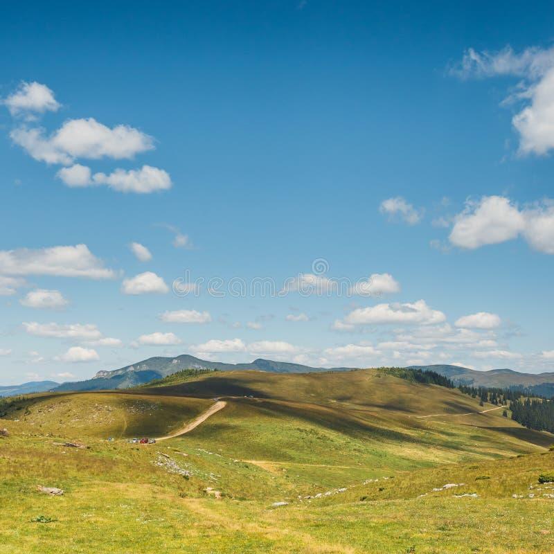 Rodna山风景在东喀尔巴汗,罗马尼亚 免版税图库摄影