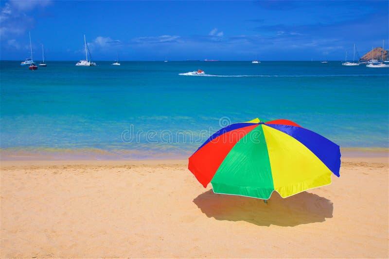 Rodney Bay in St Lucia, karibisch lizenzfreie stockbilder