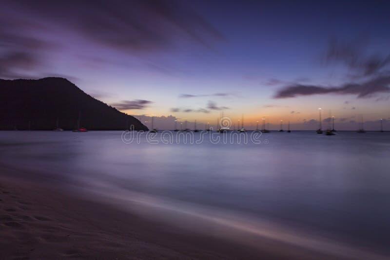 Rodney Bay Sunset fotografia stock libera da diritti