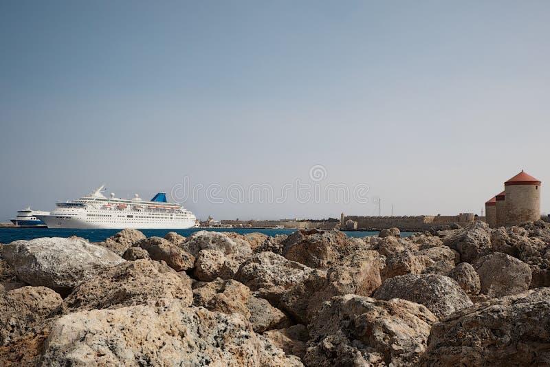 Rodos. Rhodes is a Greek island approximately 18 kilometres southwest of Turkey in the eastern Aegean Sea stock photo