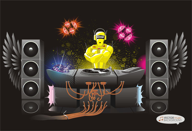 Rodot abstrait du DJ de fond de musique image libre de droits
