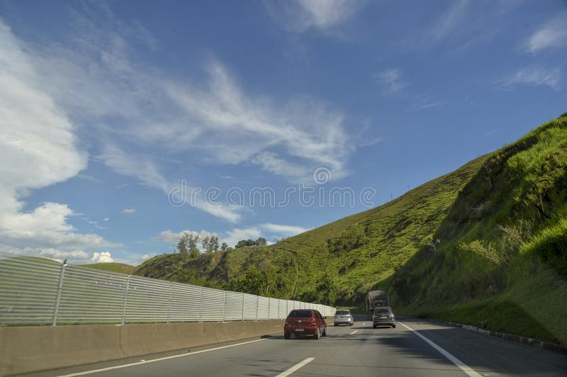 Rodovia Presidente Dutra. Resende, Brazil - january 02, 2018: Presidente Dutra Highway, an important road link between the cities of São Paulo and Rio de royalty free stock photo