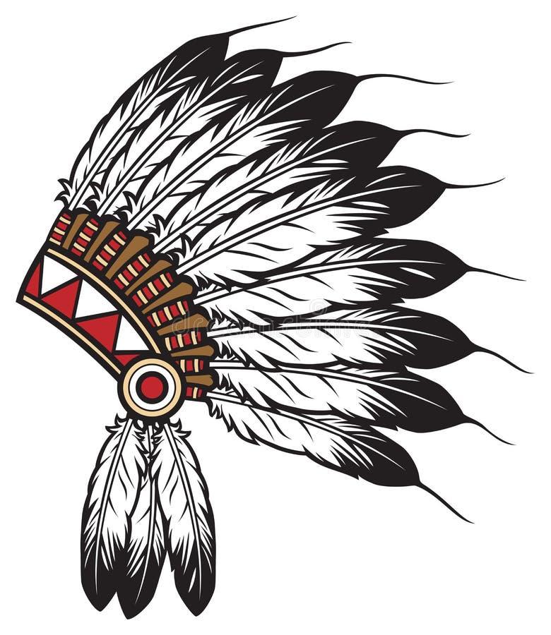 Amerykańsko-indiański szef ilustracji