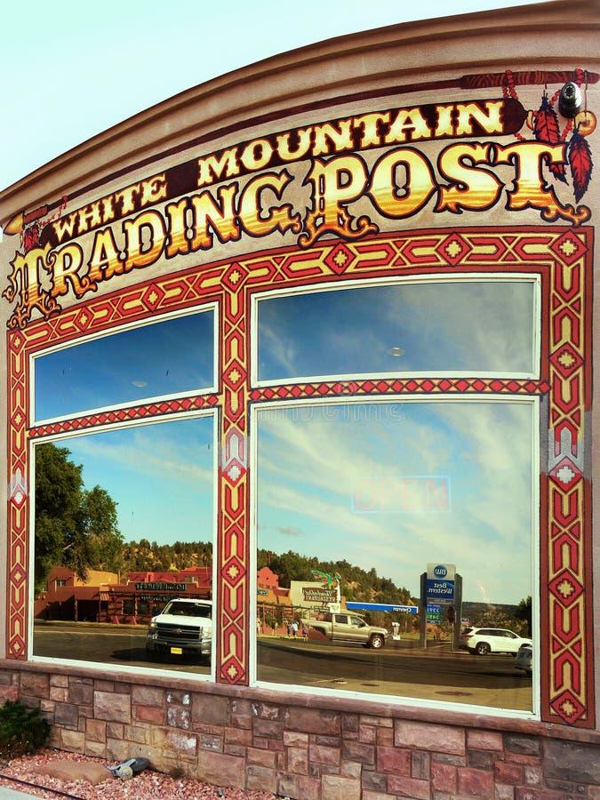 Rodowity Amerykanin Dekoracyjnej sztuki sklep, Biała Halna Handlarska poczta, Utah obrazy royalty free