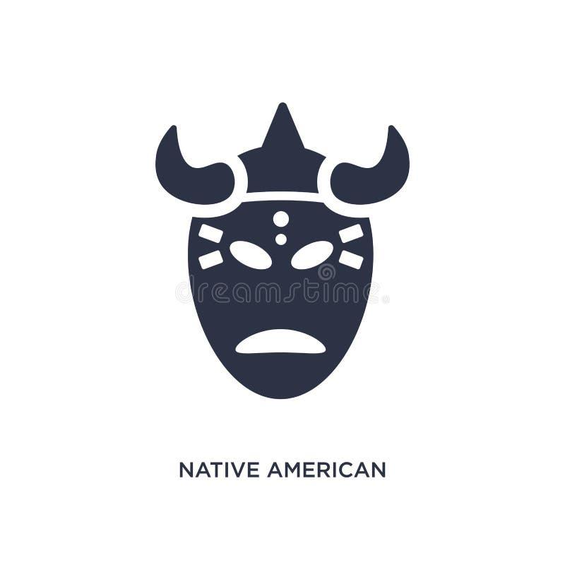 rodowity amerykanin maskowa ikona na białym tle Prosta element ilustracja od kultury pojęcia ilustracji