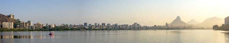 Rodrigo de Freitas Lagoon fotografie stock libere da diritti