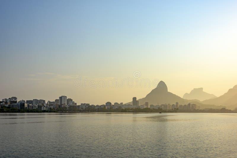 Rodrigo de Freitas Lagoon foto de archivo libre de regalías