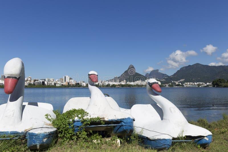 Rodrigo de Freitas Lagoon em Rio de janeiro Brazil foto de stock