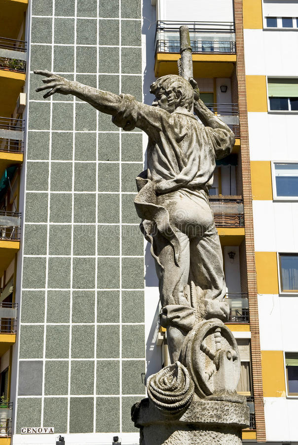 Rodrigo de Triana, ανακάλυψη της Αμερικής, έδαφος στη θέα! στοκ εικόνες