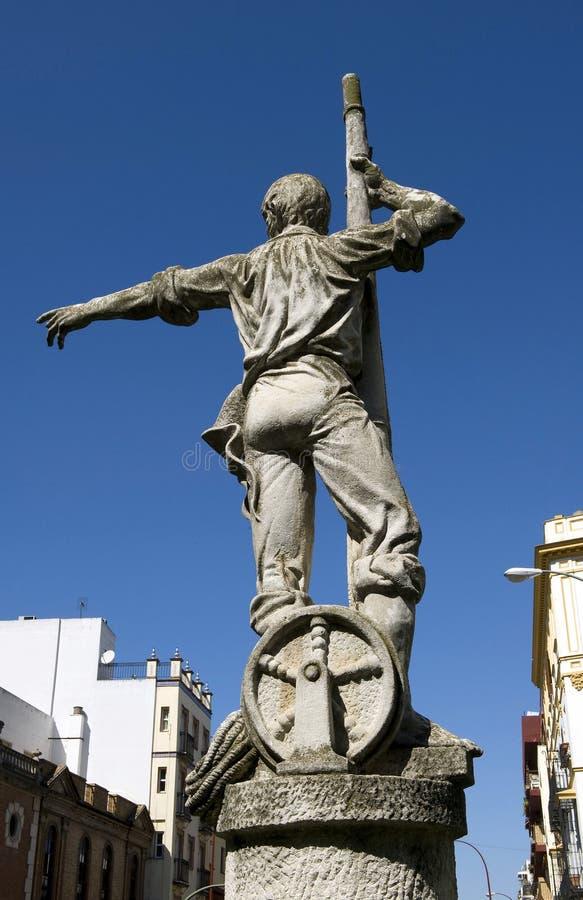 Rodrigo de Triana, descoberta de América, terra na vista! fotografia de stock