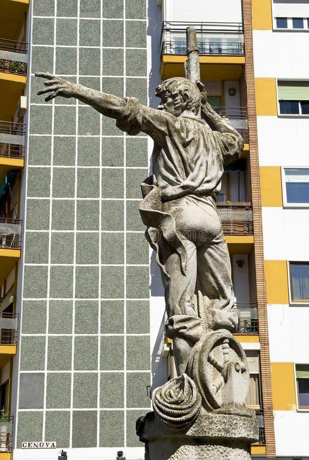 Rodrigo de Triana, descoberta de América, terra na vista! imagens de stock