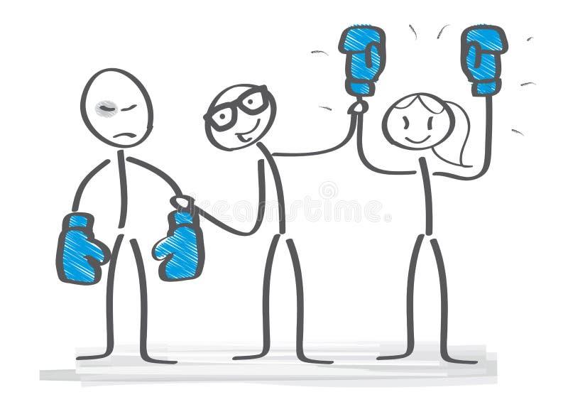 Rodzaj i rywalizacja ilustracja wektor