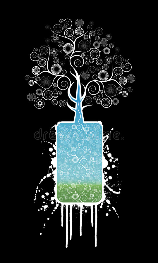 rodzaj pojemnika wymknęły się drzewa ilustracji