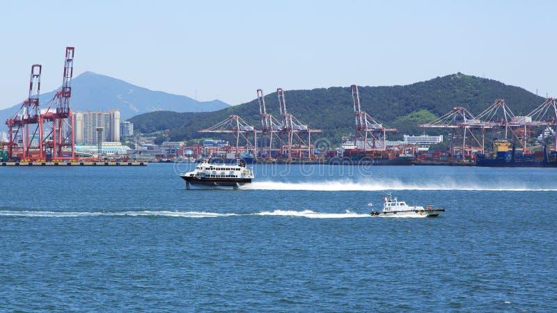 Rodzaje w portowym Busan obrazy royalty free