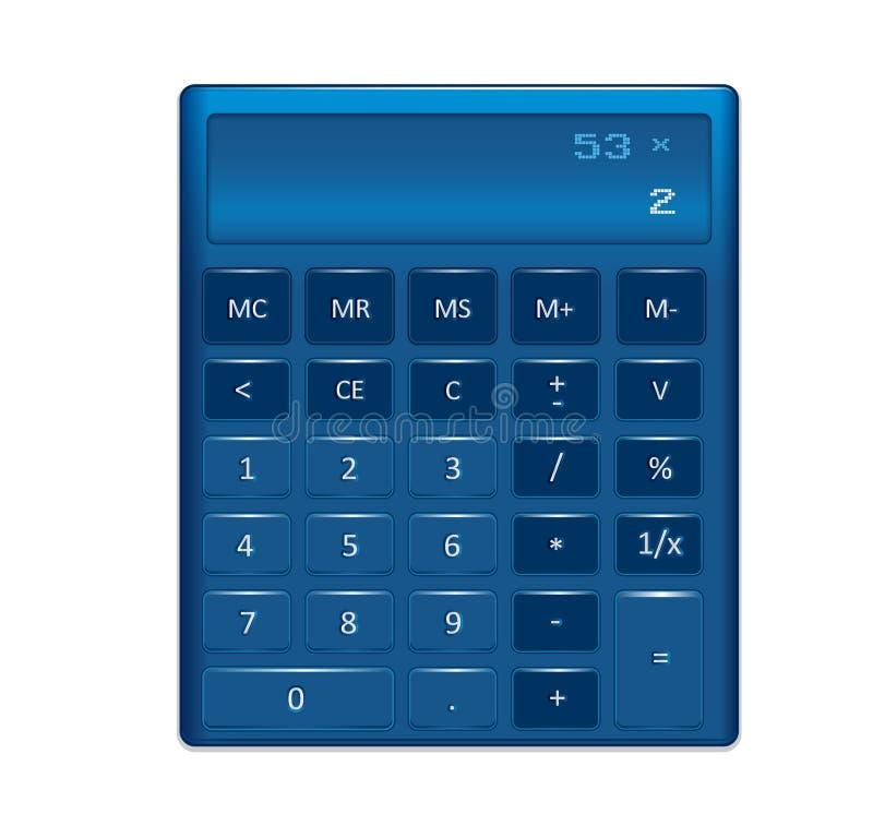 Rodzajowa elektronicznego kalkulatora ilustracja ilustracji