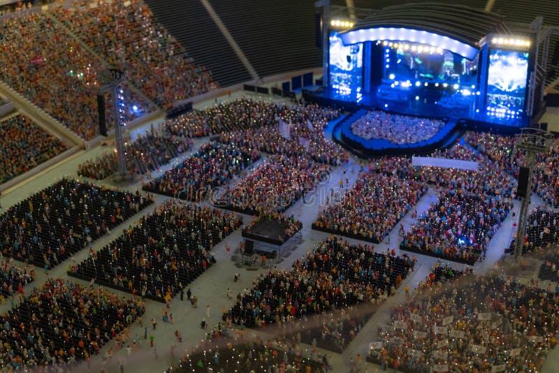 Rodzajowa koncert arena w miniaturze na otwartej przestrzeni obrazy royalty free