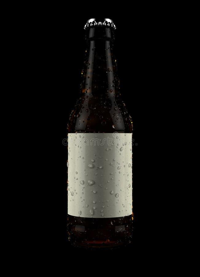 Rodzajowego alkoholu Butelkowy produkt ilustracja wektor
