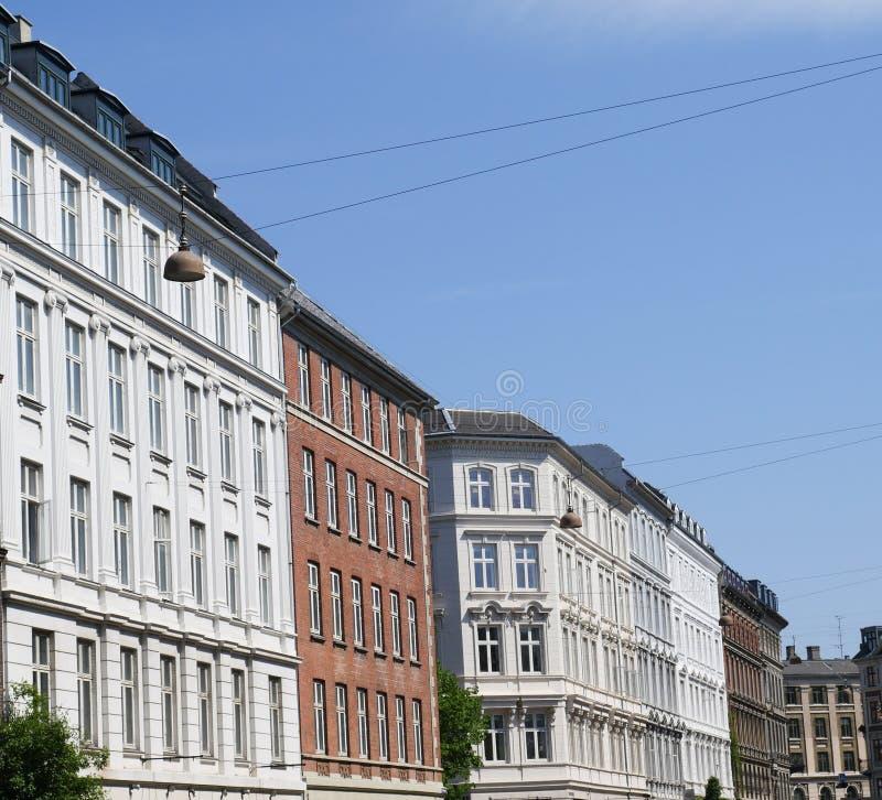 Rodzajowi historyczni budynki w Kopenhaga zdjęcie royalty free