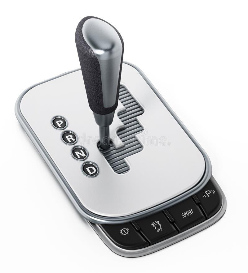 Rodzajowy automatyczny gearbox odizolowywający na białym tle ilustracja 3 d ilustracji