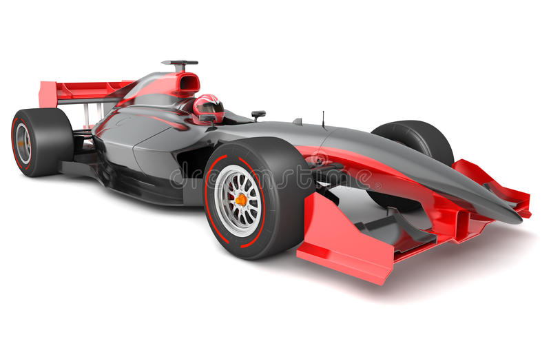 Rodzajowy czarny i czerwony samochód wyścigowy ilustracja wektor