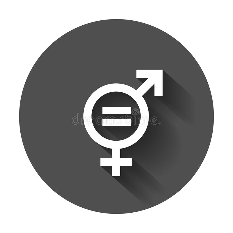 Rodzaju równego znaka wektoru ikona Mężczyzna i kobiety dorównają pojęcie ikonę royalty ilustracja