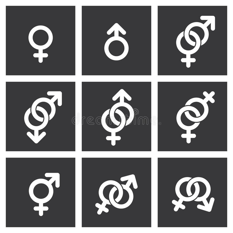 Rodzaju symbolu ikony ilustracji