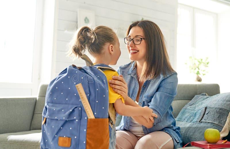 Rodzic i uczeń preschool fotografia stock