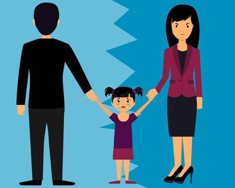Rodzica podziału dziecko ilustracji