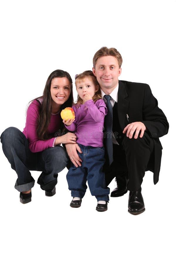 rodzice dziecka jabłko zdjęcia royalty free