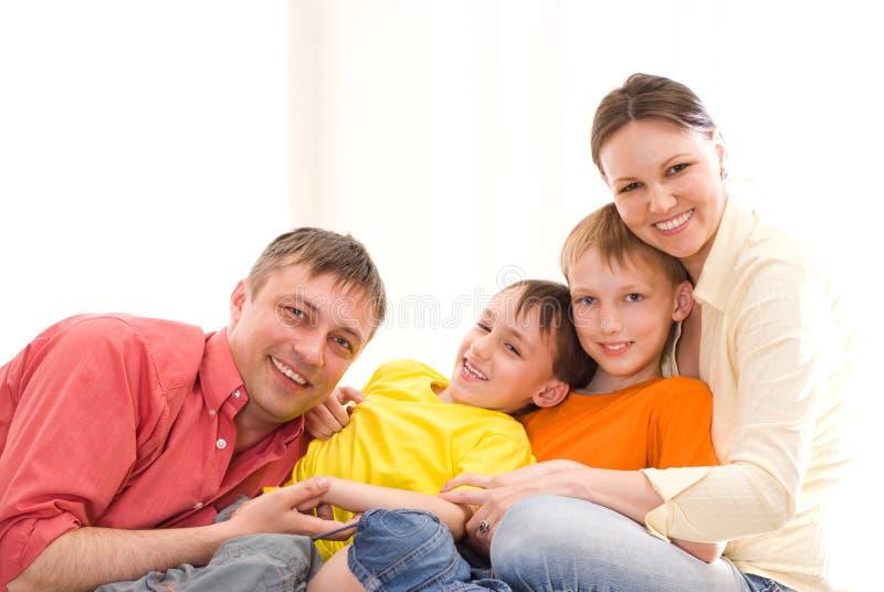 Rodzice z ich dziećmi obrazy stock