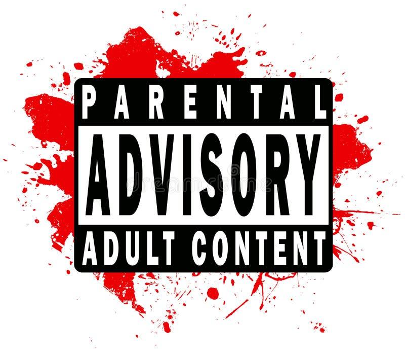 rodzicielska doradcza etykietka ilustracja wektor