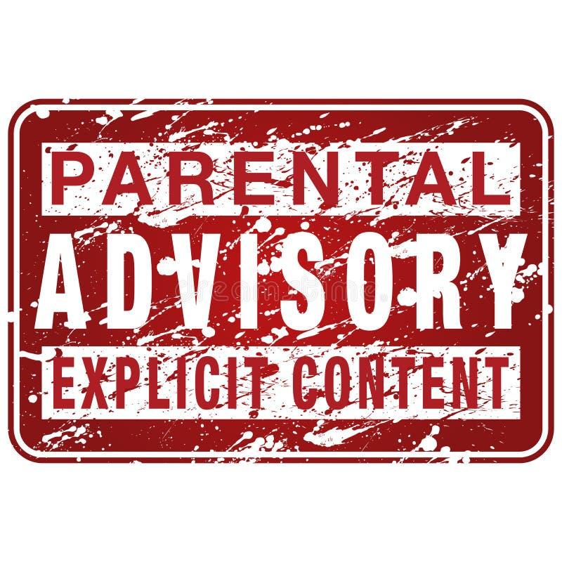 Rodzicielski Doradczej etykietki znak ilustracja wektor
