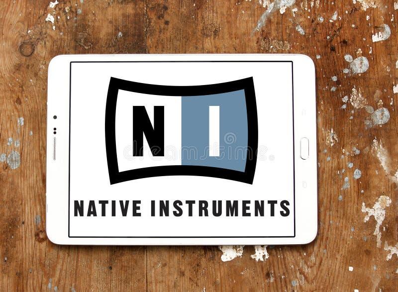 Rodzimy instrument firmy logo zdjęcie royalty free