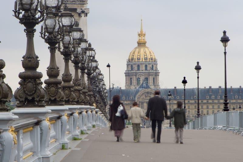 rodziną Paris invalides kościelne fotografia stock