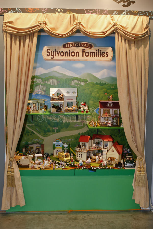 rodzin rodziny firmy sylvanian zabawka zdjęcie royalty free