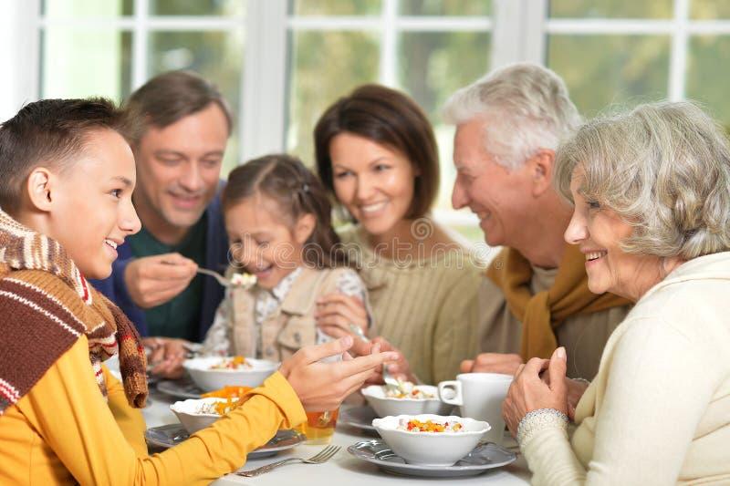Rodzina śniadanie fotografia royalty free