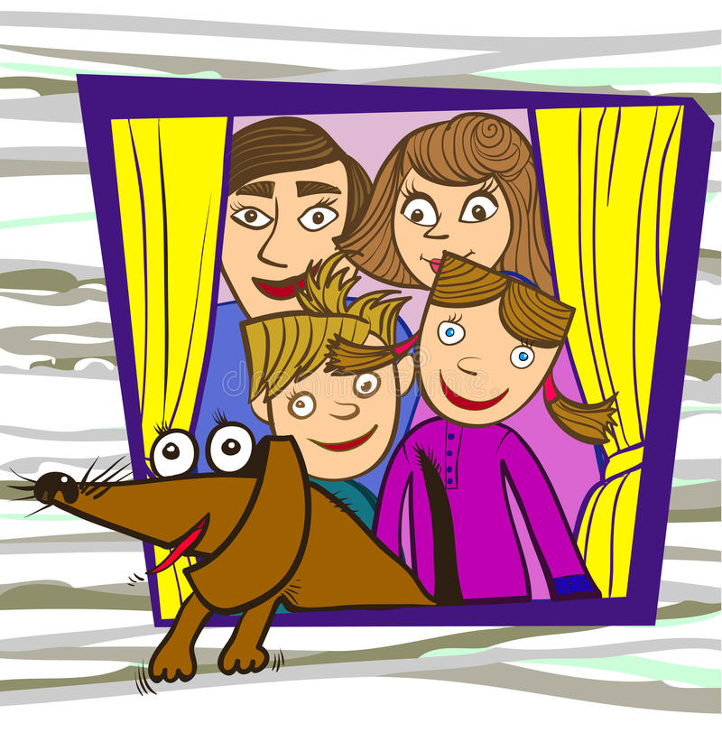 Download Rodzina ilustracja wektor. Ilustracja złożonej z mieszkaniowy - 28955932