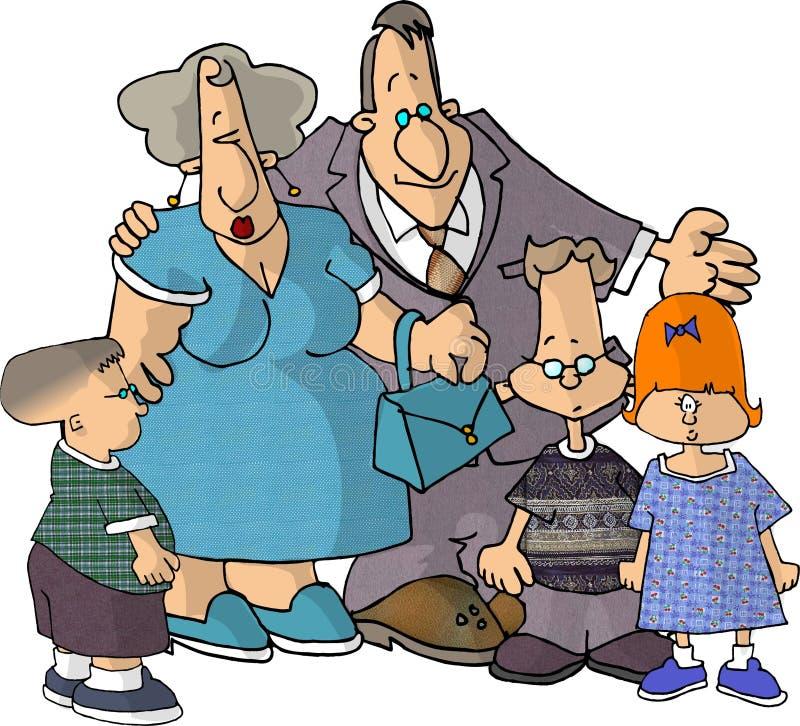 Download Rodzina ilustracji. Ilustracja złożonej z córka, facet, zabawa - 49731