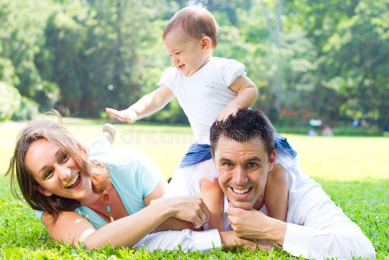 rodzina bawić się obraz stock