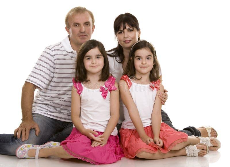 rodzina cztery obrazy royalty free