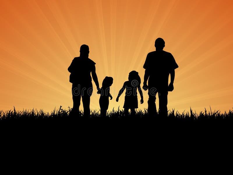 rodzina dzień rodzina ilustracja wektor