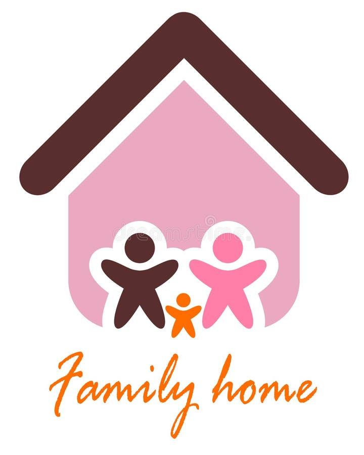 Rodzina i domowy pojęcie. Sylwetka dom i. ilustracji