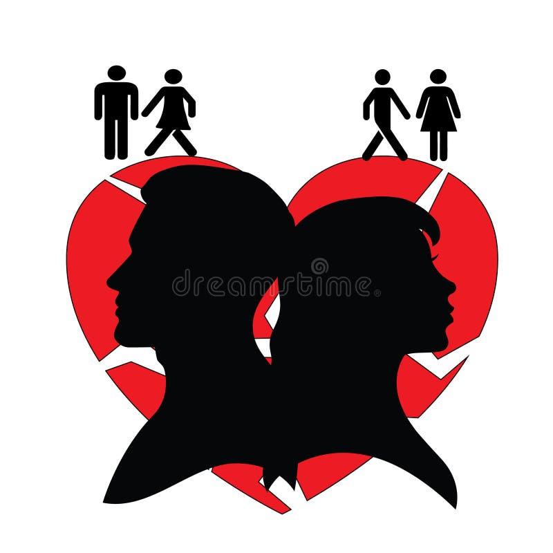 Rodzina i związków problemy ilustracja wektor