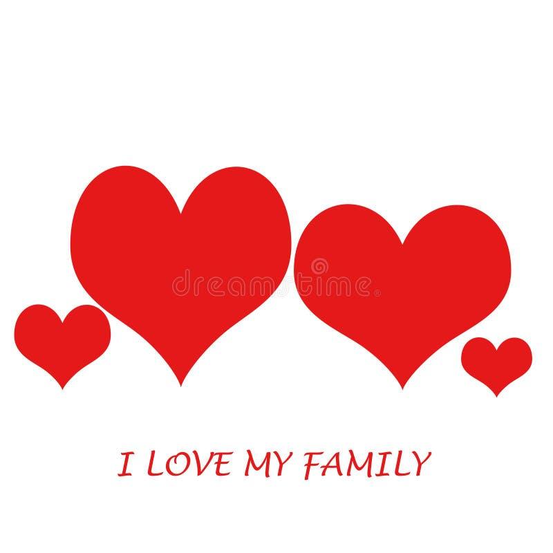 rodzina ja kocham mój ilustracja wektor