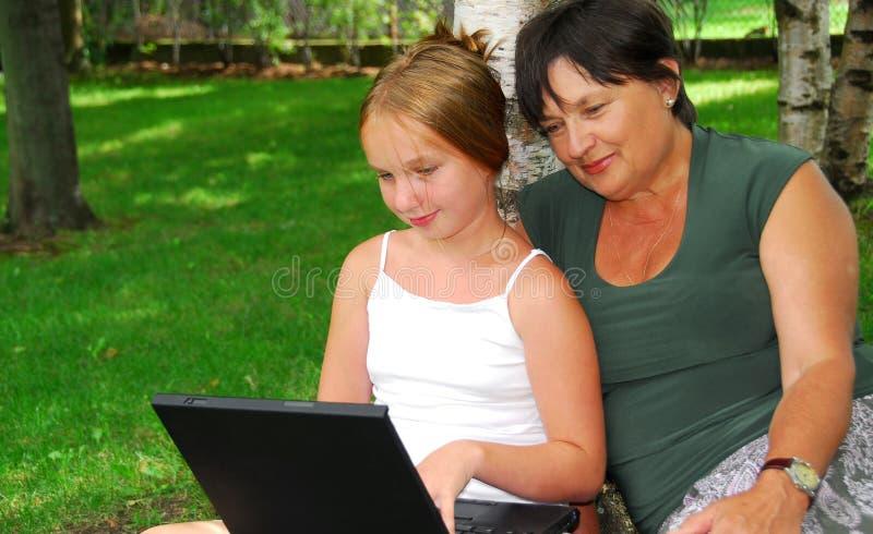 rodzina komputerowa zdjęcie royalty free