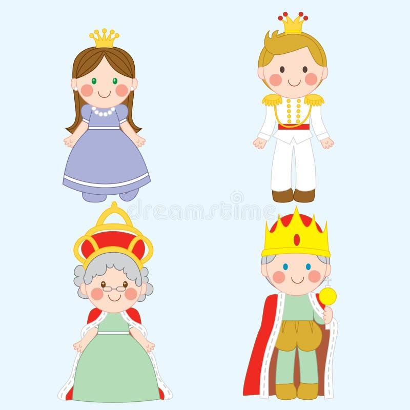 rodzina królewska ilustracji