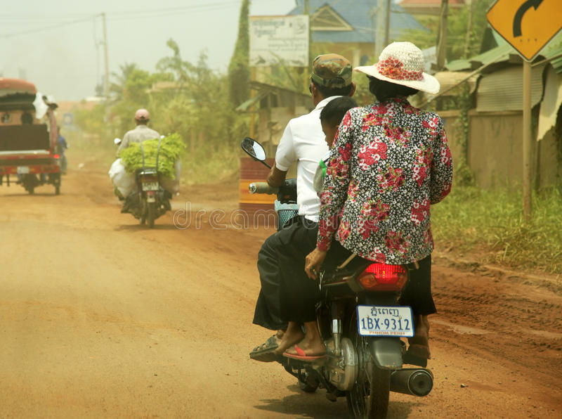 Rodzina na motocyklu obraz stock