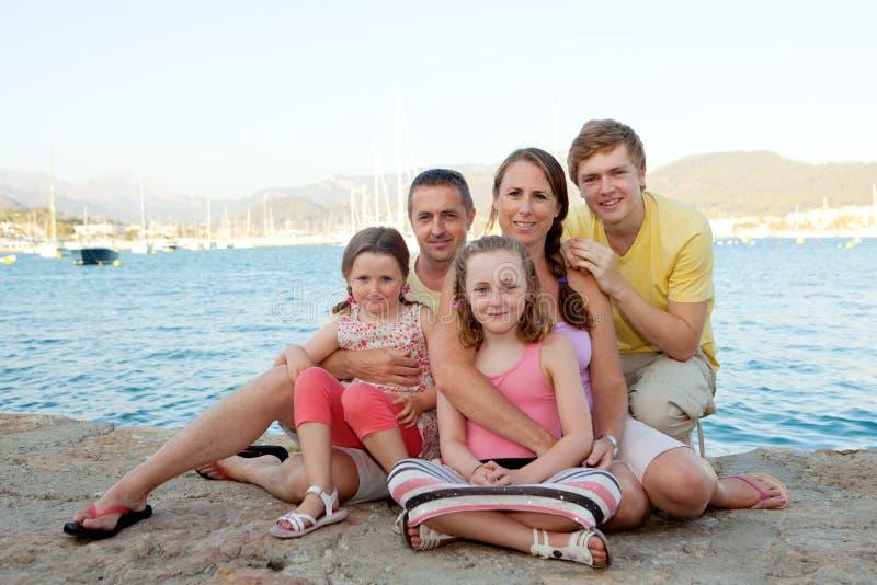 Rodzina na wakacje fotografia stock