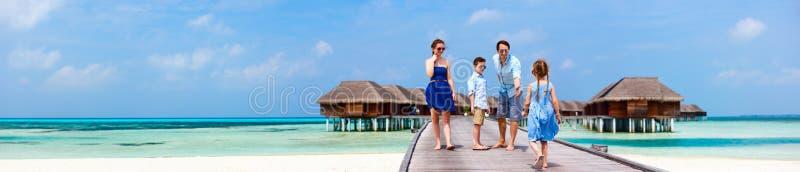 Rodzina na wakacje zdjęcie royalty free