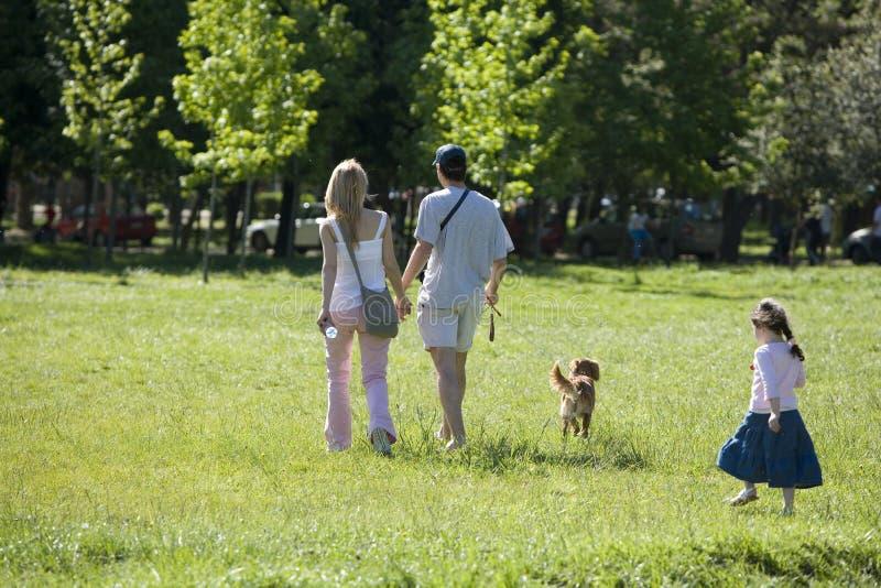 rodzina park obrazy stock